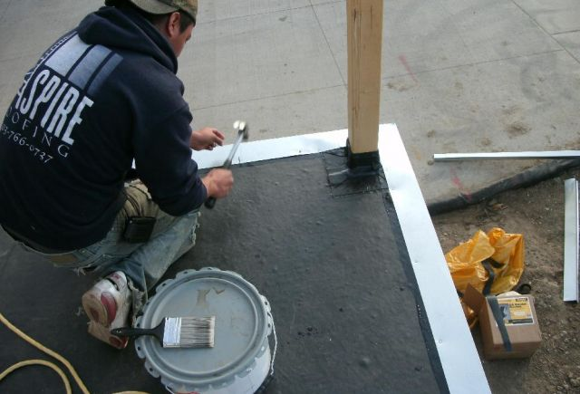 Installing drip edge, an important part of the jobs integrity