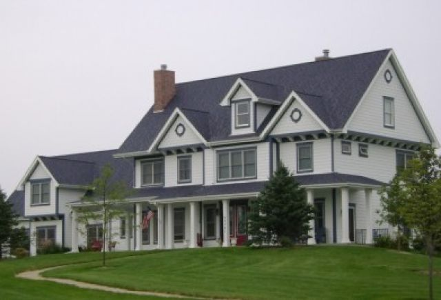 Another beautiful roofing project shown here with several dormers and gables to look at!