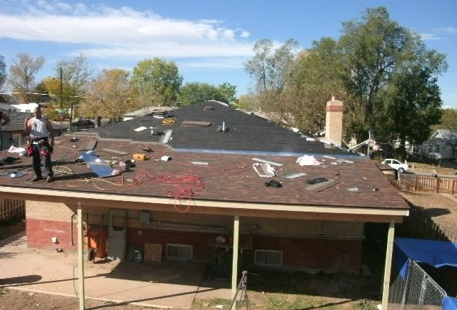 A total reroof and new padio cover we built and installed in Denver Colorado